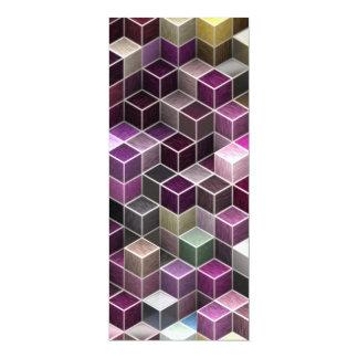 modern cubes (I) 4x9.25 Paper Invitation Card