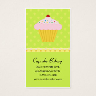 Modern Cupcake Bakery Pattern Business Card