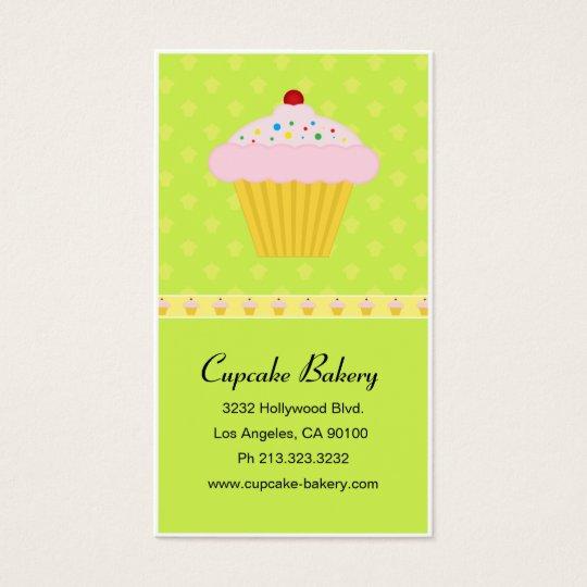 Modern Cupcake Bakery Pattern Business Card
