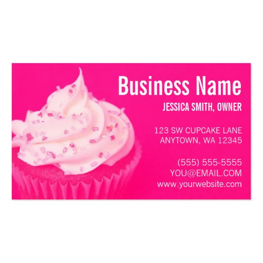 Bakery business card templates page46 bizcardstudio for Cupcake business card