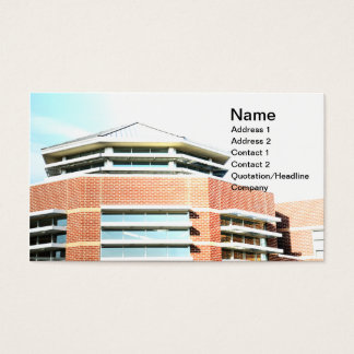 modern cupola for a red brick building business card