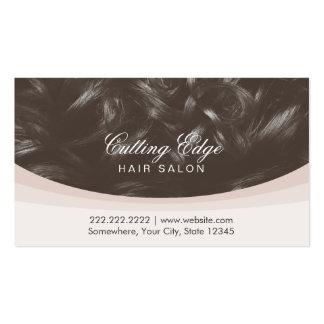Modern Curly Hair Background Hair Stylist Business Card