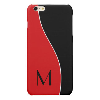 Modern Curves Monogrammed Glossy iPhone 6 Plus Case