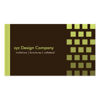 Modern custom Chocolate/Lime Business Card