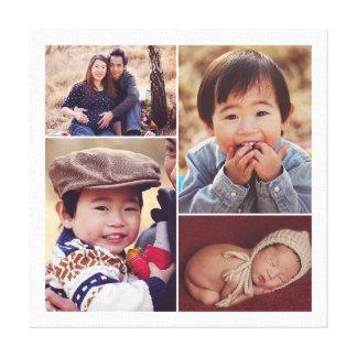 Modern Custom Family Photo Collage Canvas Print