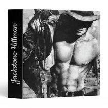 Modern Custom Fitness Masculine Cowboy Drawing 3 Ring Binder