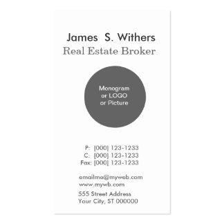 Modern Custom Minimal  Simple Round Logo Photo Business Card