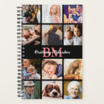 "Modern Custom Photo Collage | Monogrammed Planner<br><div class=""desc"">Photo collage planner featuring 12 photos of your family and friends,  your initials and name.</div>"