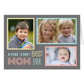 Modern Custom Photo Happy Mother s Day Card