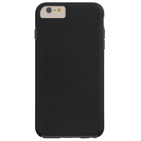 Modern Customizable Charcoal Black, Tough iPhone 6 Plus Case