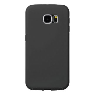 Modern Customizable Charcoal Black Samsung Galaxy S6 Case