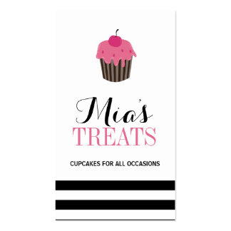 Modern Customizable Cupcake Business Card