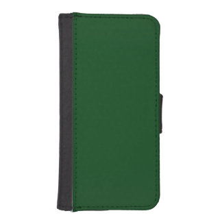 Modern Customizable Forest Green Wallet Phone Case For iPhone SE/5/5s