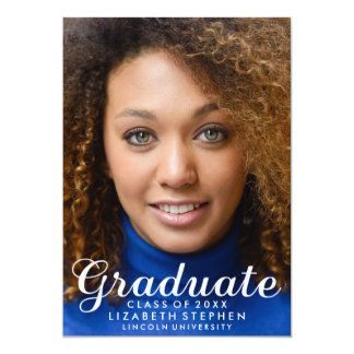 Modern Customizable Graduation Photo Announcement