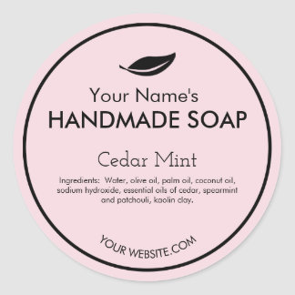 Modern Customizable Handmade Soap Labels Round