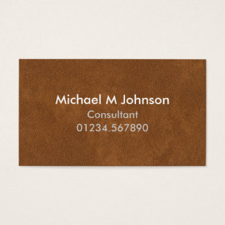 Modern Customizable Leather Effect Business Card