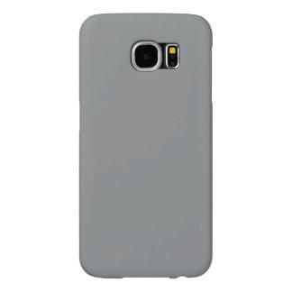 Modern Customizable Sleek Silver Samsung Galaxy S6 Case