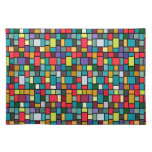 modern cute abstract color mosaic pattern placemats