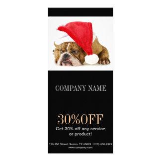 Modern cute animals pet service beauty salon rack card