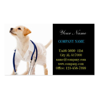 Modern cute animals pet service veterinary Double-Sided standard business cards (Pack of 100)