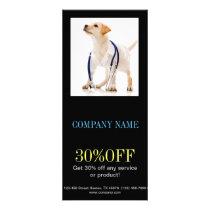 Modern cute animals pet service veterinary rack card