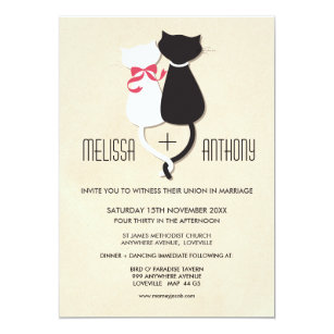 Cat Wedding Invitations Zazzle