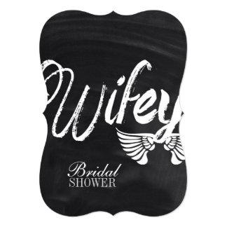 modern cute chalkboard honeymoon wifey card