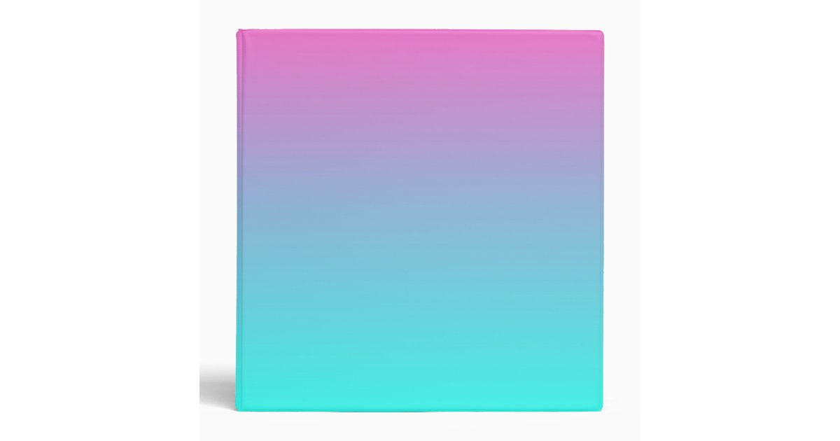 modern cute girly hot pink Fuchsia turquoise ombre Binder ...