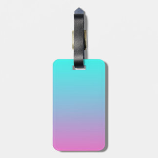 modern cute girly hot pink Fuschia turquoise ombre Bag Tag