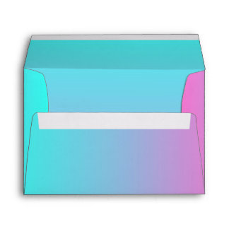 modern cute girly hot pink Fuschia turquoise ombre Envelope