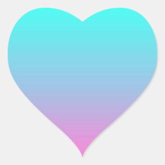 modern cute girly hot pink Fuschia turquoise ombre Heart Sticker