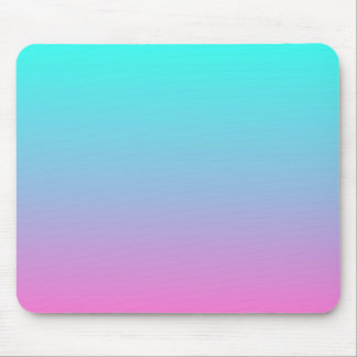 modern cute girly hot pink Fuschia turquoise ombre Mouse Pad