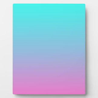 modern cute girly hot pink Fuschia turquoise ombre Plaques