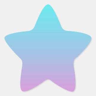 modern cute girly hot pink Fuschia turquoise ombre Star Sticker