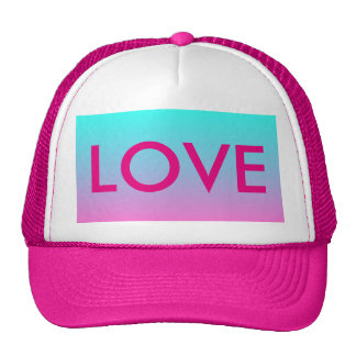 modern cute girly hot pink Fuschia turquoise ombre Trucker Hat
