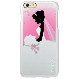 modern cute pink bride silhouette bride incipio feather® shine iPhone 6 plus case
