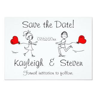 Modern Cute Save the Date Card