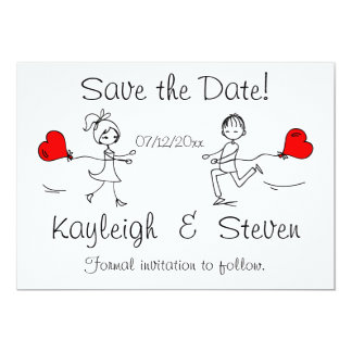 Modern Cute Save the Date Cards