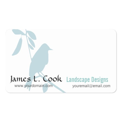 Modern Cute  Whimsical Blue Bird Business Card