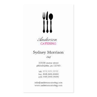 Modern Cutlery Business Card