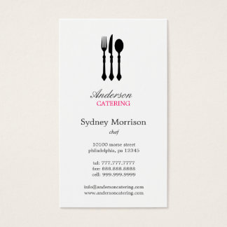 Modern Cutlery Business Card