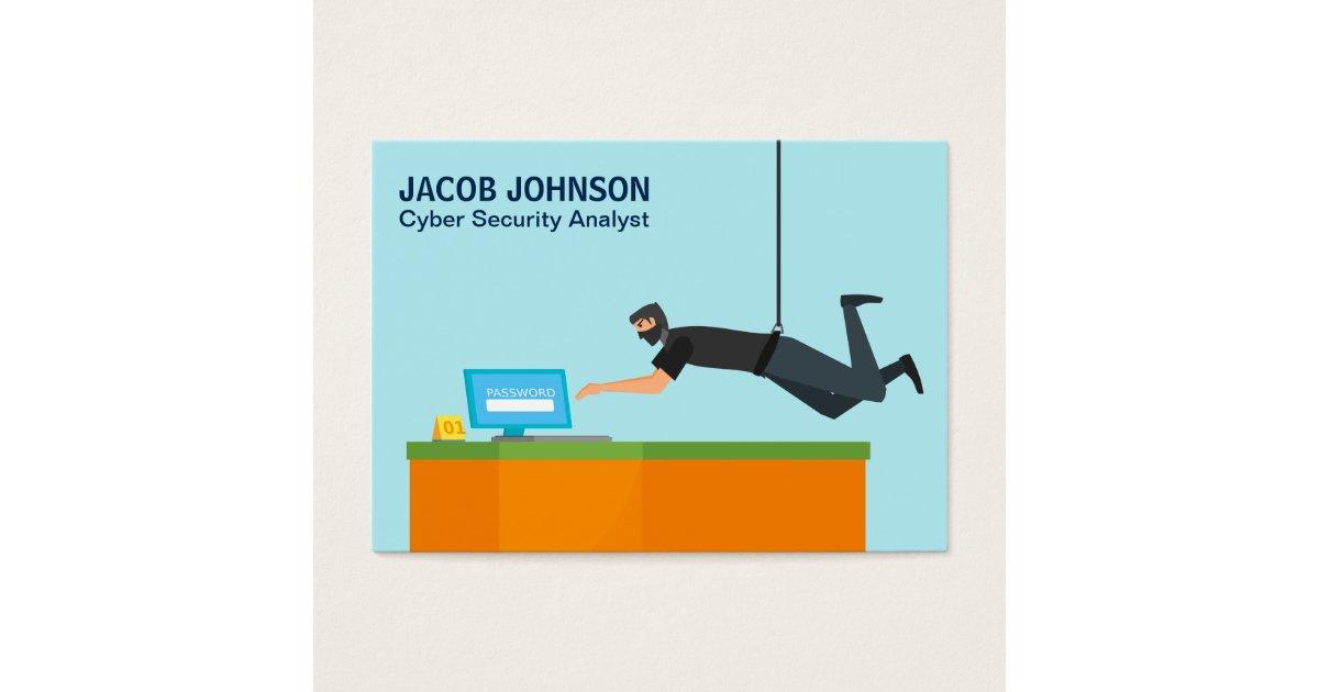 Modern Cyber Security Analyst Business Card | Zazzle.com