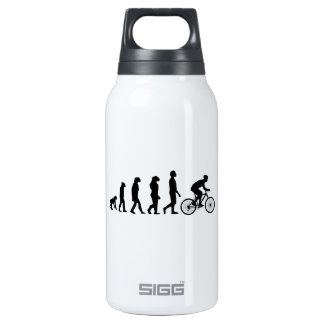 Modern Cycling Human Evolution Scheme 10 Oz Insulated SIGG Thermos Water Bottle
