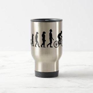 Modern Cycling Human Evolution Scheme 15 Oz Stainless Steel Travel Mug