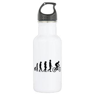 Modern Cycling Human Evolution Scheme 18oz Water Bottle
