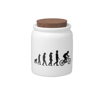 Modern Cycling Human Evolution Scheme Candy Dish