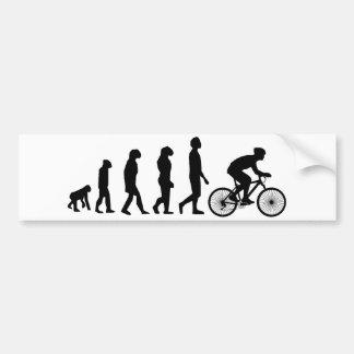 Modern Cycling Human Evolution Scheme Car Bumper Sticker