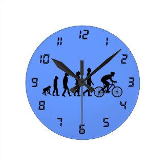 Modern Cycling Human Evolution Scheme Round Clock