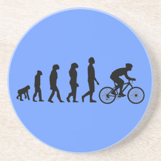 Modern Cycling Human Evolution Scheme Beverage Coasters