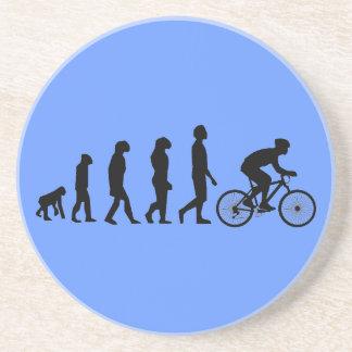 Modern Cycling Human Evolution Scheme Coasters